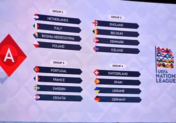 Nations League draw: Italy in a group with the Netherlands, Bosnia and Herzegovina and Poland