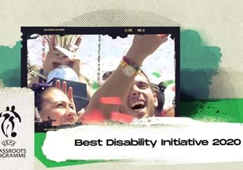 "Grassroots Awards 2020: Italia premiata dalla UEFA. Il progetto ""Quarta Categoria"" vince il ""Best Disability Initiative"""