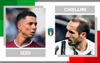 Statistical head-to-head for matchday 29 in Serie A: Armando Izzo vs. Giorgio Chiellini