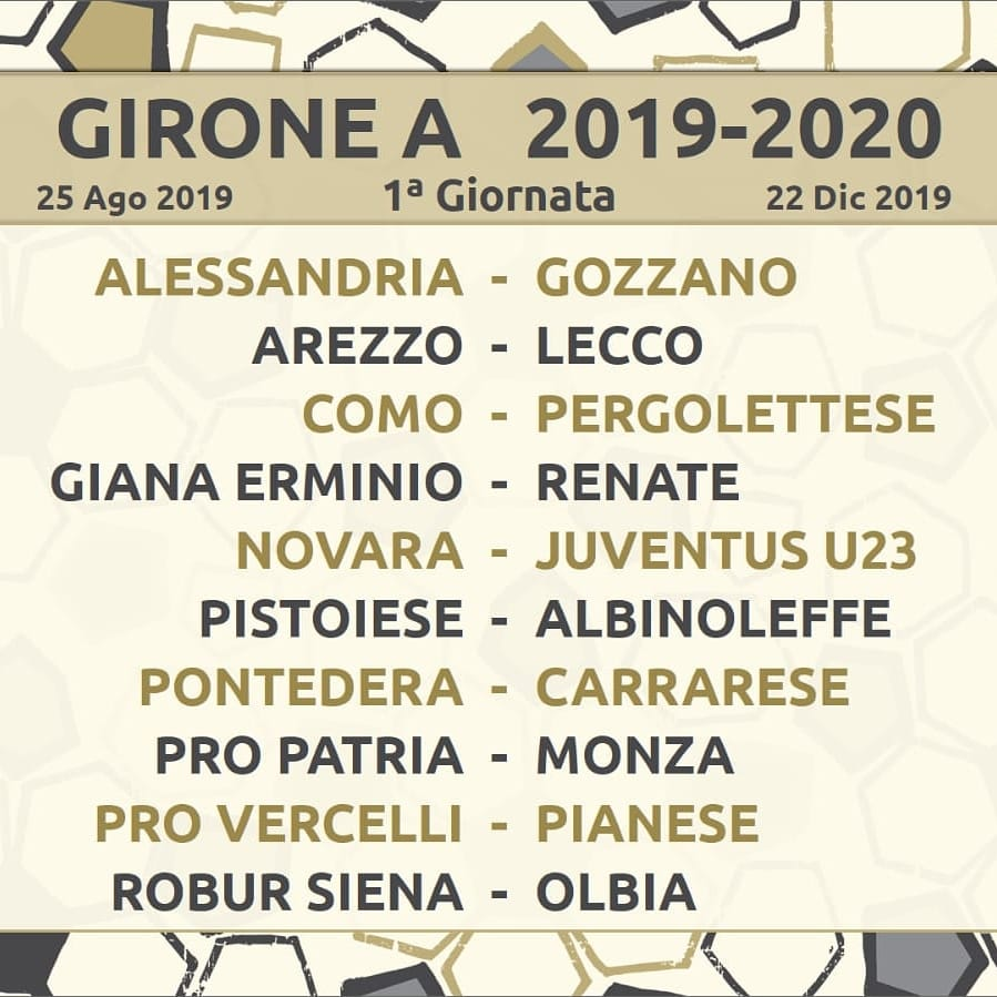 Calendario Lega Pro Girone A 2020 2020.Figc