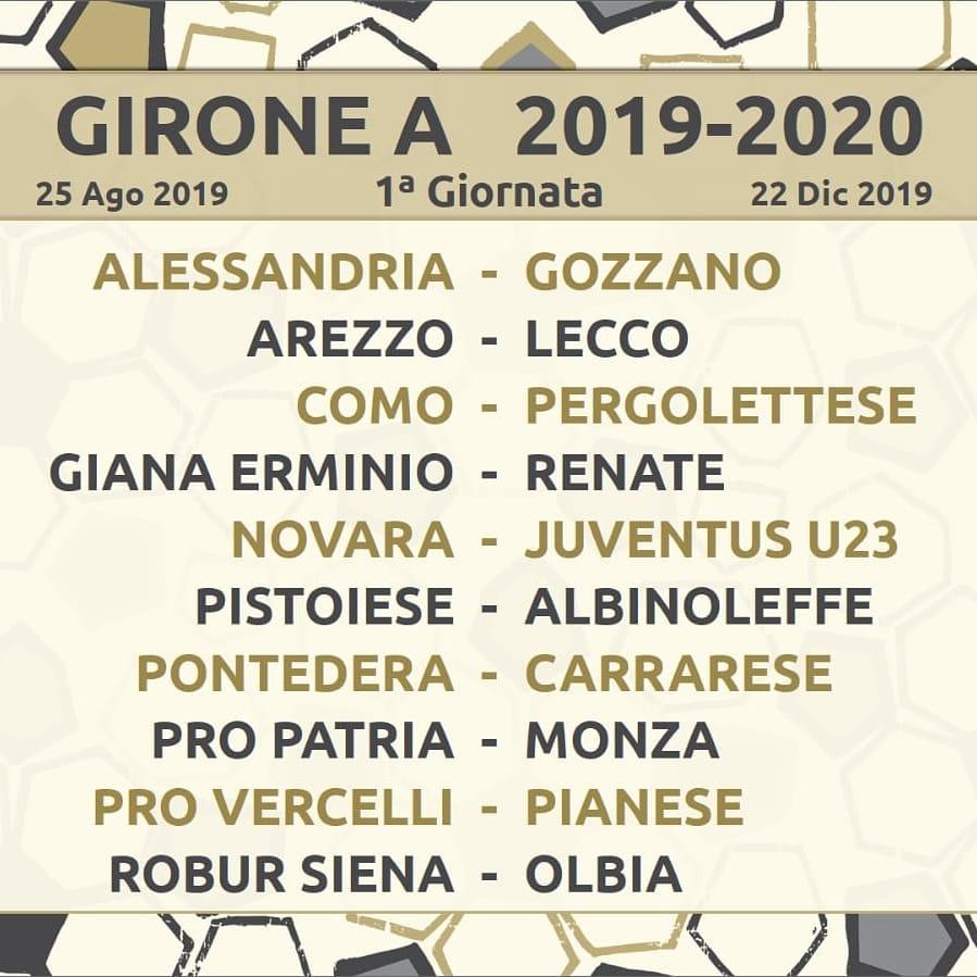 Calendario Lega Pro Girone C.Figc